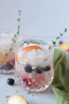 This summer cocktail puts a new spin on the classic gin fizz recipe with the addition of fresh thyme and in-season plums. Plum Gin, Ginger Cocktails, Refreshing Summer Cocktails, Valentines Day Chocolates, Gin Fizz, Fresh Thyme, Healthy Dishes, Original Recipe, Delish