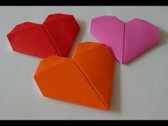 How to fold Origami Heart-하트접기 종이접기방법 - YouTube