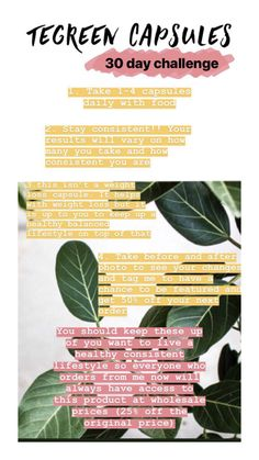 Tegreen Capsules, Nu Skin, 30 Day Challenge, Boss Babe, Beauty Secrets, Skincare, Weight Loss, Posts, Business