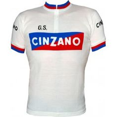 The cult cycling jersey of all time! Now you can style this rare white Cinzano white edition!  Woolistic teamed up with Cinzano to produce this one-of-a-kind jersey. The Cinzano rectangle is knit into the body front and back on an advanced knitting machine. Rare chain-stitch embroidery on front, back and sleeves. Quintessential style that never goes out of fashion combined with the performance of Merino wool.