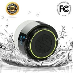 2014 Waterproof Bluetooth® Shower Speaker - Best Fully Submersible and Portable Speakers ~ Lifetime Guarantee ~ Designed for Wireless Music with Crisp Sound & Deep Bass - Compatible with all Cell Phone & Bluetooth Devices