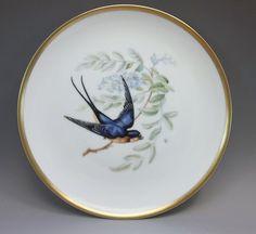 Hutschenreuther Selb Bavaria Barn Swallow Plate Pasco Audubon Germany Birds  #HutschenreutherSelbBavaria