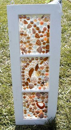 This Garden Glass Window is called 'Beachy Brown'.