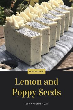 Lemon and poppy seeds is an all-natural step-by-step cold process soap tutorial suitable for beginners soap makers with an extra twist for those who like to try out new things! Soap Making Recipes, Homemade Soap Recipes, Homemade Bagels, Lemon Soap, Soap Tutorial, Soap Making Supplies, Soap Maker, Soap Packaging, Soap Molds