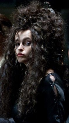 Belatrix Lestrange, Harry Potter series --- she's one of many of Voldemort's (the ultimate villain wizard) puppets, and a classified madwoman. She's evil because she likes it; the worst kind of villain.