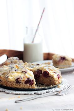 Cherry Recipe | Cherry and almond cake