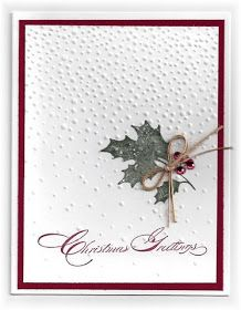 Read information on Handmade Christmas Card Ideas Embossed Christmas Cards, Cas Christmas Cards, Homemade Christmas Cards, Embossed Cards, Christmas Greetings, Handmade Christmas, Holiday Cards, Stampinup Christmas Cards, Holiday Gifts