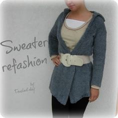 tousled day: Sweater Refashion