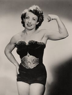 Mildred Burke is hailed by many as one of the greatest ever female wrestlers. She was certainly a pioneer, with a level of muscle development unusual in her time, and a strong determination to popularize women's wrestling.