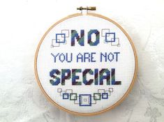 Rude cross stitch subversive PDF pattern mean by TheCompassNeedle