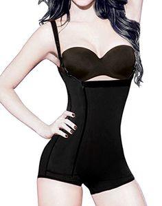 920a1f9597c38 Shymay Women s Full Body Girdle Compression Clip Zip Tummy Control Body  Shapewear