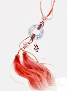 Motif Kimono, Chinese Drawings, Kawaii Accessories, Jewelry Drawing, China Art, Anime Angel, Fantasy Weapons, Jolie Photo, Mini Tattoos
