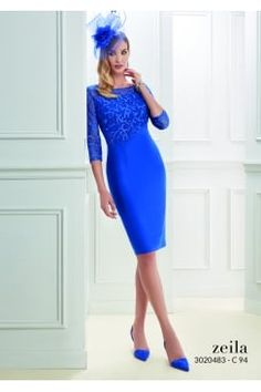 331a1c1d9cbd Zeila knee length dress with mesh lace detailed top. Product code  3020483  Affordable Formal