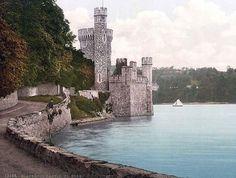 Blackrock Castle. Co. Cork, Ireland - I want to visit this place - it's so beautiful! That's me, leaning over the edge of the wall and looking out at the sea = *Sigh* ~Dreaming~ LOL