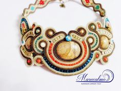Choker neckalce boho bib necklace Soutache by Marecalmojewels