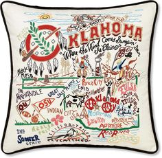 Oklahoma Pillow. I like seeing my state on a pillow. ;)