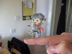 Mako Paper Child by *AvengedHyuga on deviantART Glitter Lucky, Paper Child, Paper Art, Paper Crafts, Avatar The Last Airbender Art, Chibi Characters, Funny Drawings, Legend Of Korra, Cool Artwork