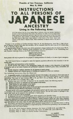 The passing of a true american hero internment japanese american notice of relocation for persons of japanese ancestry 1942 gilder lehrman collection fandeluxe Image collections