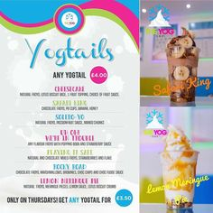 Missed out on #midweekmadness today?? Do not fear! Tomorrow we have an equally exciting offer.... #yogtailthursday ! Every #yogtail is just 3.50! Layered up in a cup with #FroYo and different #toppings  there is something there for everyone!  #frozenyoghurt #frozenyogurt #wirral #hoylake #theyogbar #liverpool #foid #instafood #instadaily #menu #cocktail #inspired by theyogbar