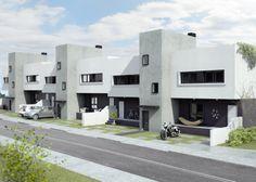 Ideas de #Casas de #Exterior, estilo #Moderno diseñado por JOSE JAVIER ARTIAGA SOLER Arquitecto con #Dibujos #Fachada #Maquetas  #CajonDeIdeas