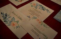 invitatie nunta personalizata flower watercolor
