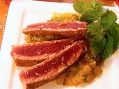 Seared Tuna with Mango Salsa - Barefoot Contessa