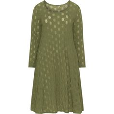 Boris Khaki-Green Plus Size Textured polka dot tunic (500 CNY) ❤ liked on Polyvore featuring tops, tunics, plus size, plus size layered tops, long sleeve tunic, green long sleeve top, green tunic and long tunics