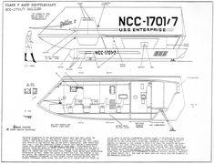 Star Trek Shuttlecraft Galileo Blueprint Plan 200