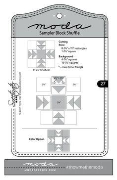 Moda Sampler Block Shuffle - Block # 27