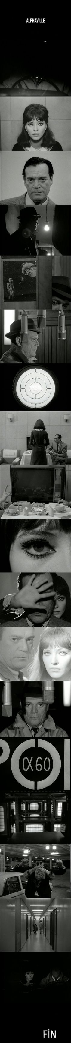 Alphaville (1965) Directed by Jean-Luc Godard. Cinematography by Raoul Coutard.