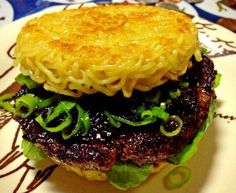 The Ramen Burger: Pinning this NOT because I want to eat it but because I'm confused. Titillated. But mostly confused.