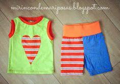 Ahora que ya os puse patrones y tutorial para la camiseta Ona, vamos a por el pantalón.         Son muy sencillos, y os va a apetecer coser...