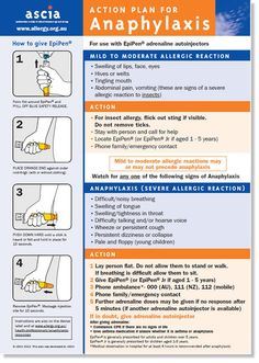 ASCIA Action Plan for Anaphylaxis (general) for use with EpiPen