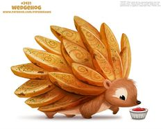 Daily Paint Sound Bearrier by Cryptid-Creations on DeviantArt Cute Animal Drawings Kawaii, Kawaii Drawings, Kawaii Art, Cute Drawings, Anime Animals, Cute Animals, Animal Puns, Animal Food, Animal Sketches