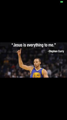 Graduated from high school with his dad, Dell Curry! Glad to see such strong faith in Stephen!!
