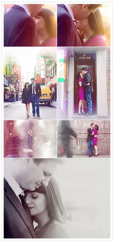 """A """"Lost in Translation"""" inspired engagement session was perfect for this couple.    Photo:  Heather Waraksa"""