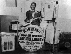 Joe Hill Lewis, The Bee Bob Boy One-Man Band. Memphis, Tenn
