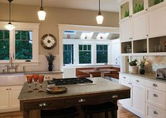 Love the white cabinets  modern meets craftsman