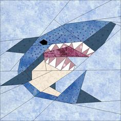 Shark by JaneenVN | Quilting Pattern - Looking for a quilting pattern for your next project? Look no further than Shark from JaneenVN! - via @Craftsy