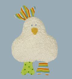 Baby Spielzeug, Plüsch-Huhn mit Rassel, kbA Baumwolle