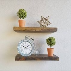 Millwood Pines Shiela Fireplace Shelf Mantel & Reviews   Wayfair Wooden Floating Shelves, Solid Wood Shelves, Fireplace Shelves, Fireplace Mantle, Wood Mantle, Bottle Wall, Glass Rack, Wall Installation, How To Distress Wood
