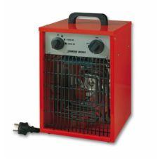 Heater 3000 Watt Type     EK3001  Isolatieklasse      IPX4    Capaciteit   W 3000  Verwarmingselement     RVS (ingekapseld) weerstanddraad SS resistance wire (encapsulated)  Instelmogelijkheden   kW 1500-3000  Motorvermogen   W 40  Aansluitspanning     230 / 50  Thermostaat     +  Koude lucht ventilator     +  Overhittingsbeveiliging     +  Omvalbeveiliging     -  Omkasting     metaal/metal  Model     staand / standing  Afmetingen   cm 26 x 25 x 40  Gewicht   kg 5,1  Artikelnummer     33.256