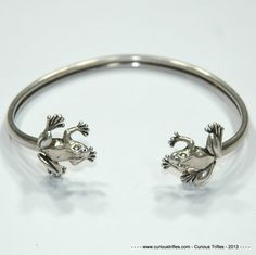 Sterling Silver Kabana Frog Bangle  481 by curioustrifles on Etsy, $100.00