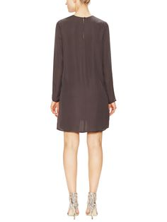 Silk Dress with Mesh Inset by Zoe & Sam at Gilt