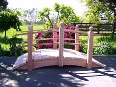 The type of bridge I want to connect the two spaces in my backyard