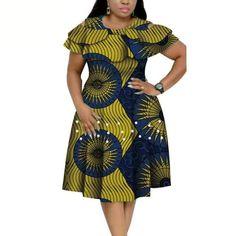 African Cotton Dashiki Wax Print Pattern Ankara Pearls Dress for Women – Afrinspiration African Dresses Plus Size, Short African Dresses, Latest African Fashion Dresses, African Print Fashion, Latest Fashion, African Fashion Traditional, African Attire, Collar Dress, Monitor
