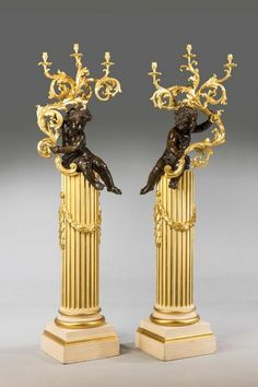 Pair of 19th Century Cold cast Gilt Bronze Putti - Windsor House Antiques