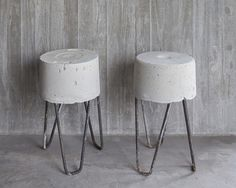 concrete HRS stools made of recycled materials found at construction sites