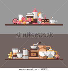 카페 스톡 벡터 및 벡터 클립 아트 | Shutterstock