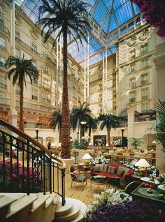 "to do:""The Winter Garden"" - The Landmark Hotel, London afternoon tea in London. I think still one of the best. Thankfully not quite as well known so you can sometimes get same-day reservations, and the palm trees in the atrium really add an element of drama to proceedings!"